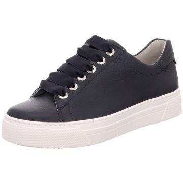 Semler Plateau Sneaker blau