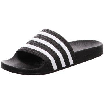 adidas Originals Badelatsche schwarz
