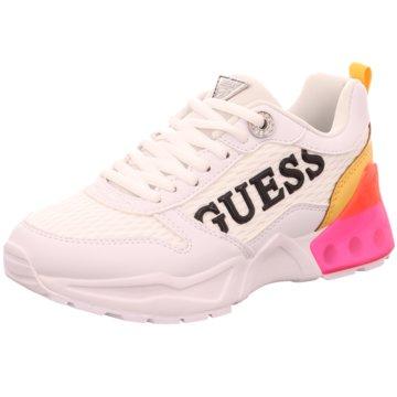 Guess Plateau Sneaker weiß
