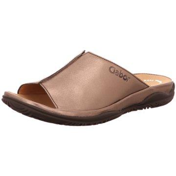 Gabor comfort Komfort Pantolette silber