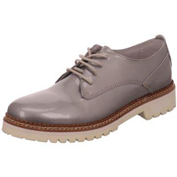 SPM Shoes & Boots Plateau Schnürschuhe grau