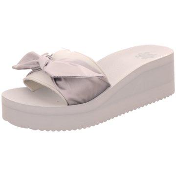 Flip-Flop Plateau Pantolette silber