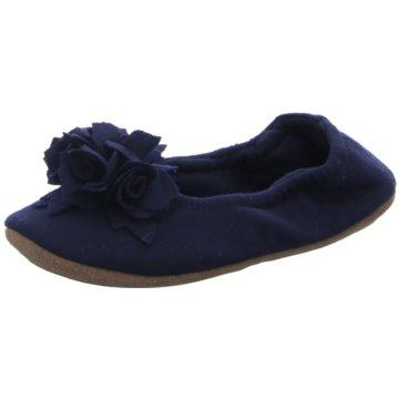 Pampuschen Faltbarer Ballerina blau