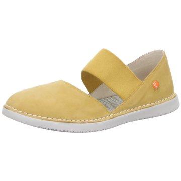 Softinos Offene Schuhe gelb