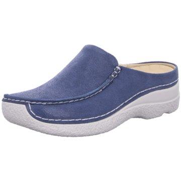 Wolky Komfort Slipper blau