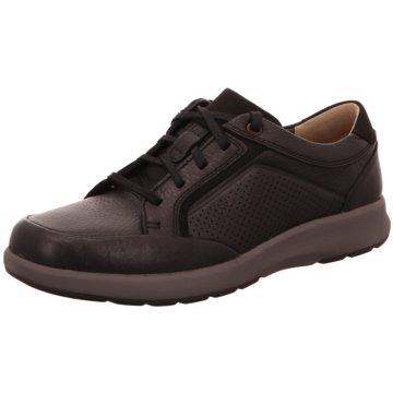 Clarks Komfort Schnürschuh schwarz