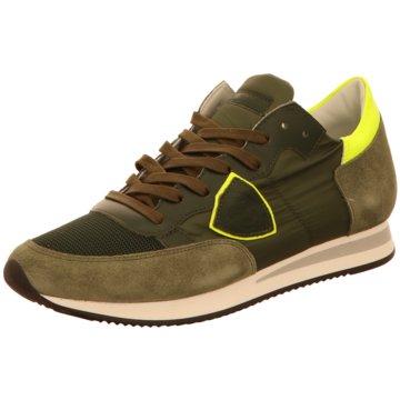 Philippe Model Sportlicher Schnürschuh grün