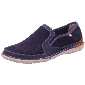 On Foot Klassischer Slipper blau