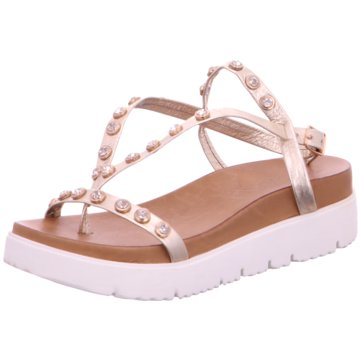 Inuovo Keilsandalette gold