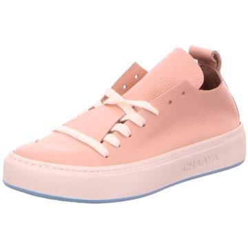 Chaaya Sportlicher Schnürschuh rosa