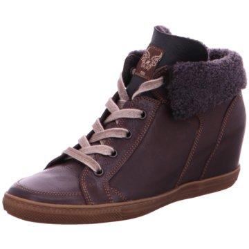Paul Green Sneaker Wedges braun
