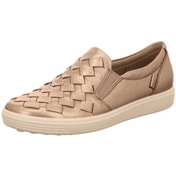 Ecco Sportlicher SlipperECCO SOFT 7 LADIES gold