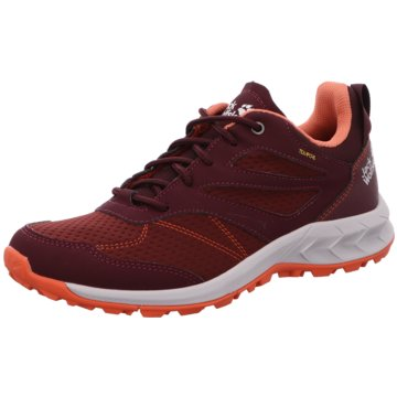 JACK WOLFSKIN Outdoor SchuhWOODLAND TEXAPORE LOW W - 4039241 rot