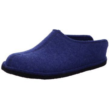 Haflinger HausschuhFlair Smily blau