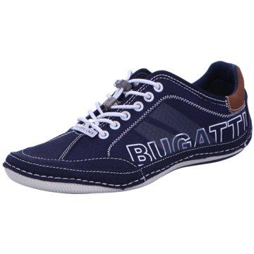 Bugatti Komfort Schnürschuh blau