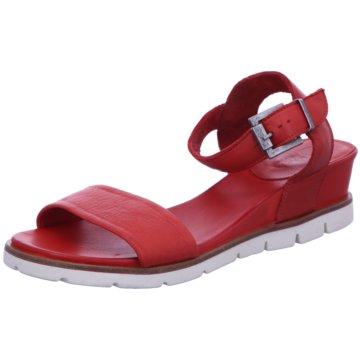 MACA Kitzbühel Komfort Sandale rot