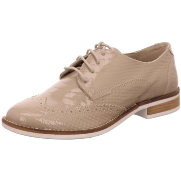 Online Shoes Eleganter Schnürschuh beige