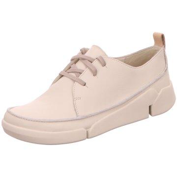 Clarks Komfort Schnürschuh weiß