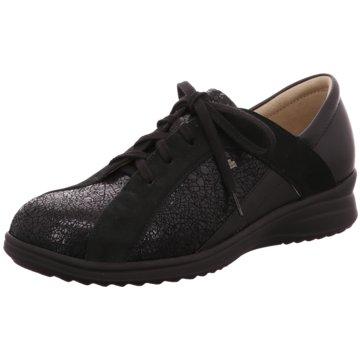 FinnComfort Komfort Schnürschuh schwarz