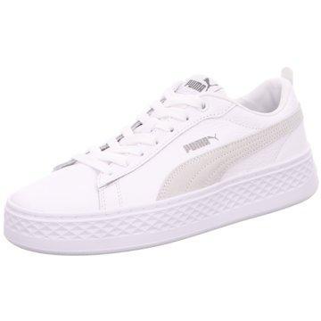 Puma Sneaker LowSmash Platform L weiß