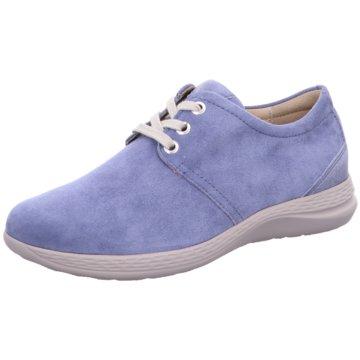 Fidelio Bequeme Schnürschuhe blau