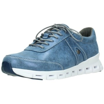 Wolky Komfort Schnürschuh blau
