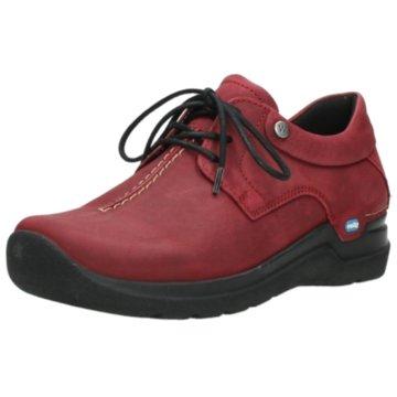 Wolky Komfort SchnürschuhSneaker rot