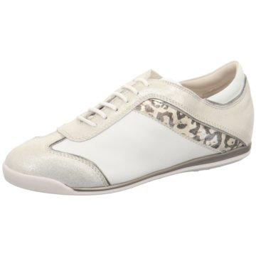 La Cabala Sportlicher Schnürschuh weiß