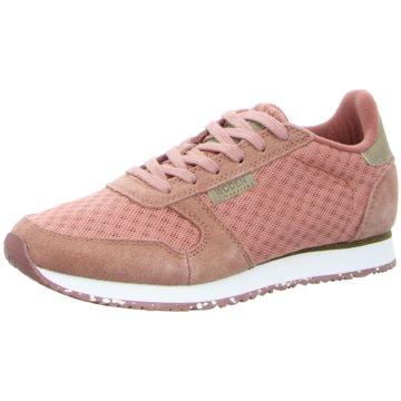 Woden Sportlicher Schnürschuh rosa