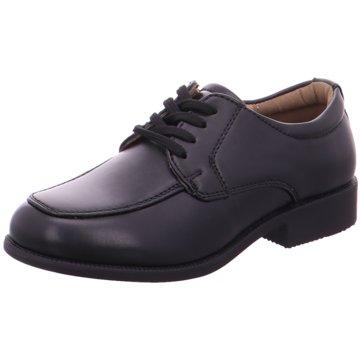 Indigo Komfort Schnürschuh schwarz