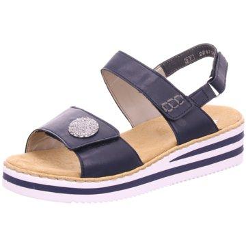 Rieker Komfort SandaleSandale blau