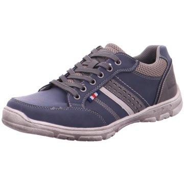 Pep Step Sportlicher Schnürschuh blau