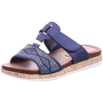 Hengst Footwear Plateau Pantolette blau