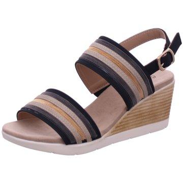 Hengst Footwear Keilsandalette schwarz