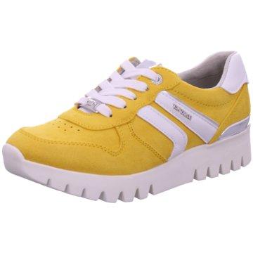 Supremo Sportlicher Schnürschuh gelb