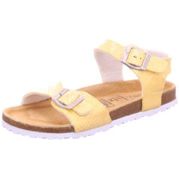 Indigo Offene Schuhe gelb