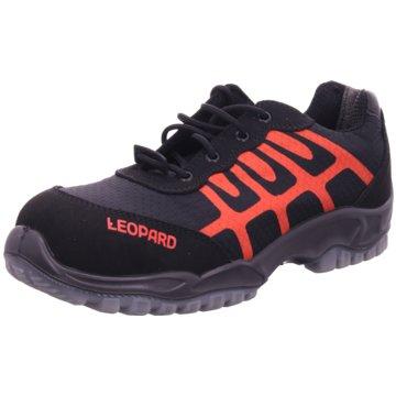 Leopard Outdoor Schuh schwarz