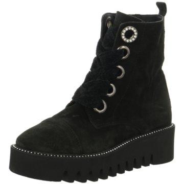 Alpe Woman Shoes Schnürstiefelette schwarz