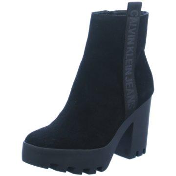 Calvin Klein Plateau Stiefelette schwarz