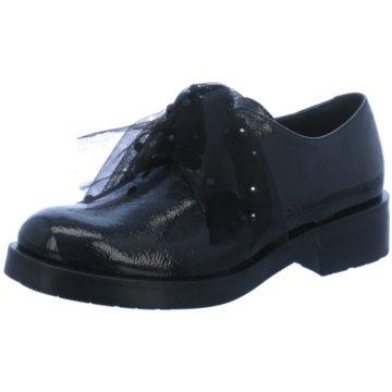 Tosca Blu Eleganter Schnürschuh schwarz