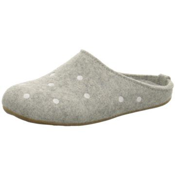 Haflinger Hausschuh grau