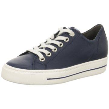 Paul Green Sportlicher Schnürschuh blau