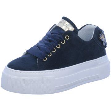 Alpe Woman Shoes Plateau Sneaker blau