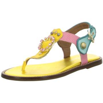 Alpe Woman Shoes Zehenstegsandale gelb