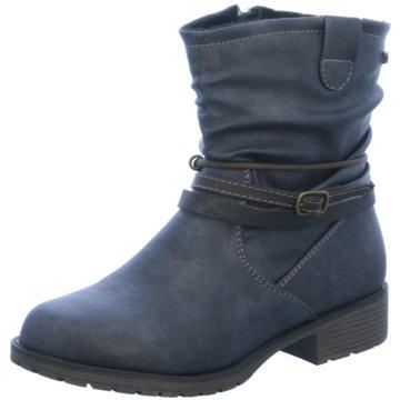 Indigo Halbhoher Stiefel blau