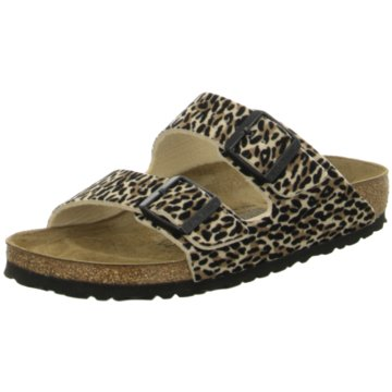 Birkenstock Klassische PantoletteArizona TEX Leo Lilly Brown Be animal