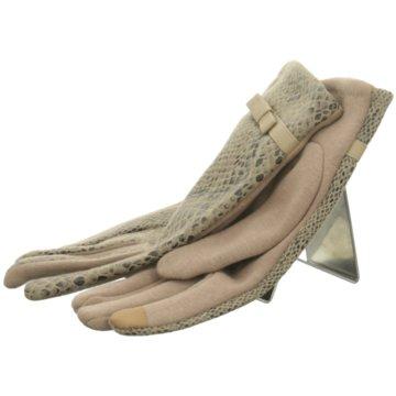 Seiden-Grohn Handschuhe beige