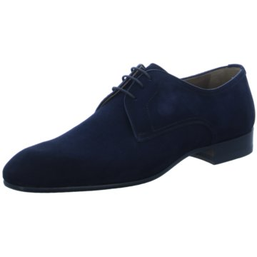 Magnanni Eleganter Schnürschuh blau