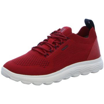 Geox Sneaker LowU SPHERICA A - KNITTED TEXT. rot