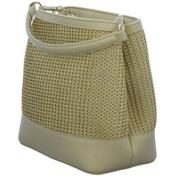 SEIDENFELT Handtasche beige
